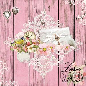 Papel-Scrapbook-com-Gliter-Love-LSCG-10---Litocart-