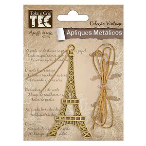 Aplique-Metalico-Envelhecido-e-Cordao-Paris-Vintage-AM130---Toke-e-Crie