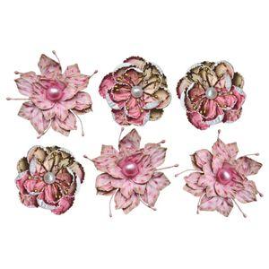 Flores-Artesanais-com-Perola-Rosa-FLOR82---Toke-e-Crie
