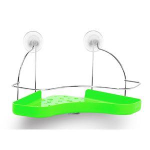 Porta-Shampoo-Simples-Cromo-Colors-Aco-e-Plastico-Verde-305-3---Niquelart