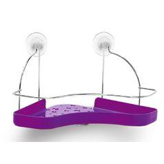 Porta-Shampoo-Simples-Cromo-Colors-Aco-e-Plastico-Lilas-305-8---Niquelart
