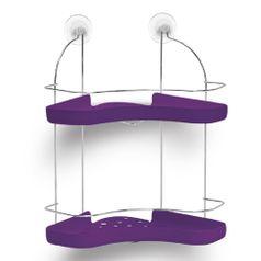 Porta-Shampoo-Duplo-Cromo-Colors-Aco-e-Plastico-Lilas-306-8---Niquelart