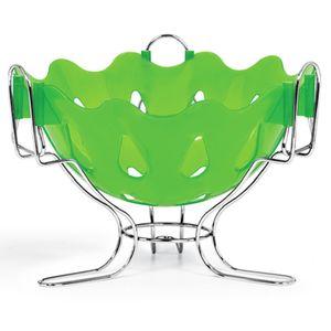 Fruteira---Centro-de-Mesa-com-Suporte-Cromo-Colors-Verde-308-3---Niquelart