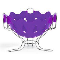 Fruteira---Centro-de-Mesa-com-Suporte-Cromo-Colors-Lilas-308-8---Niquelart
