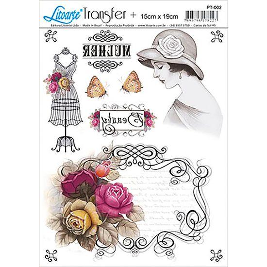 Papel transfer litoarte flores pt 002 litoarte - Papel de transferencia textil ...