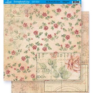 Scrapbook-Folha-Dupla-Face-Flores-SD-312---Litoarte