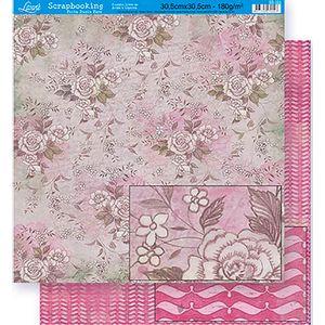 Scrapbook-Folha-Dupla-Face-Flores-SD-320---Litoarte