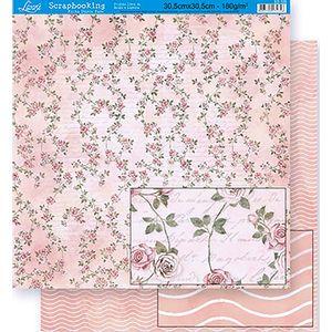 Scrapbook-Folha-Dupla-Face-Flores-SD-325---Litoarte-