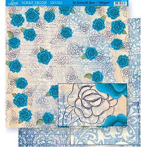 Scrapbook-Folha-Dupla-Face-Flores-SD-341---Litoarte