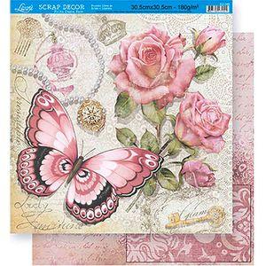 Scrapbook-Folha-Dupla-Face-Flores-SD-349---Litoarte