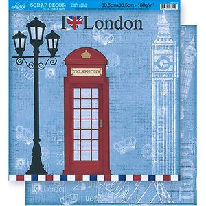 Scrapbook-Folha-Dupla-Face-London-SD-360---Litoarte