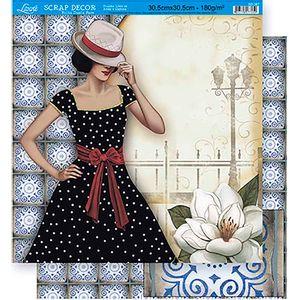 Scrapbook-Folha-Dupla-Face-Flores-SD-367---Litoarte