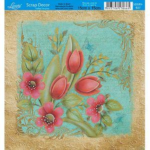 Papel-Scrap-Decor-Folha-Simples-15x15-Flores-SDSXV-027---Litoarte