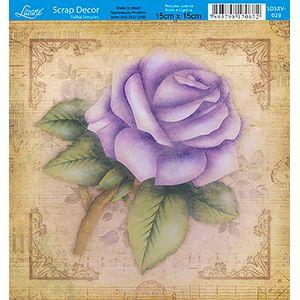 Papel-Scrap-Decor-Folha-Simples-15x15-Flores-SDSXV-028---Litoarte
