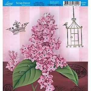 Papel-Scrap-Decor-Folha-Simples-15x15-Flores-SDSXV-044---Litoarte