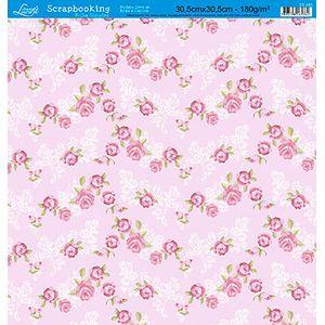 Papel-Scrap-Decor-Folha-Simples-Flores-SS-085---Litoarte-