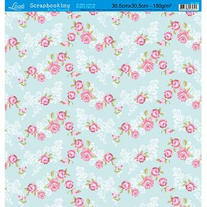 Papel-Scrap-Decor-Folha-Simples-Flores-SS-086---Litoarte