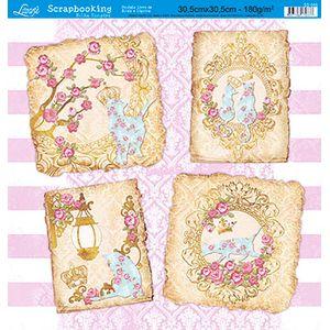 Papel-Scrap-Decor-Folha-Simples-Flores-SS-088---Litoarte