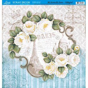 Papel-Scrap-Decor-Folha-Simples-Flores-SS-089---Litoarte