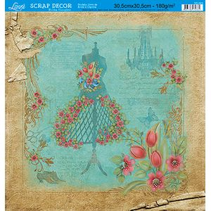 Papel-Scrap-Decor-Folha-Simples-Flores-SS-093---Litoarte