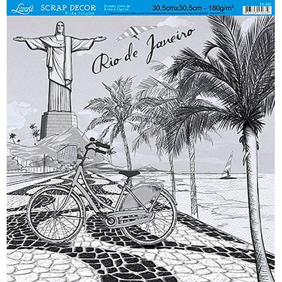 Papel-Scrap-Decor-Folha-Simples-Rio-de-Janeiro-SS-095---Litoarte