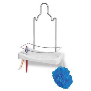 Porta-Shampoo-Simples-Cromo-Colors-Aco-e-Plastico-Branco-348-4---Niquelart
