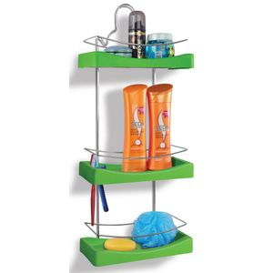 Porta-Shampoo-Triplo-Cromo-Colors-Aco-e-Plastico-Verde-350-3---Niquelart