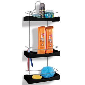 Porta-Shampoo-Triplo-Cromo-Colors-Aco-e-Plastico-Preto-350-7---Niquelart-