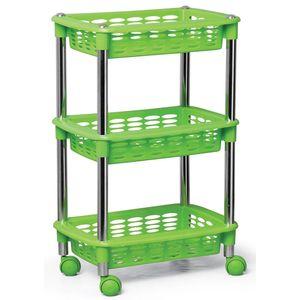 Fruteira---Organizador-Cromo-Colors-Triplo-Retangular-Verde-354-3---Niquelart