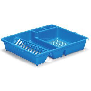 Escorredor-Pratos-e-Copos-com-Porta-Talheres-Parati-Azul-430-1---Niquelart-