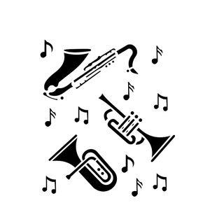 Estencil-para-Pintura-Simples-15x20-Instrumentos-Musicais-OPA426---Opa
