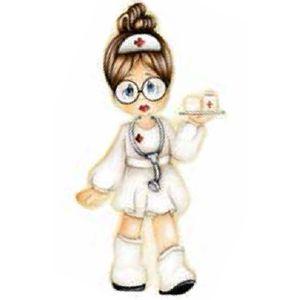 Aplique-Madeira-e-Papel-Enfermeira-LMAPC-148---Litocart-