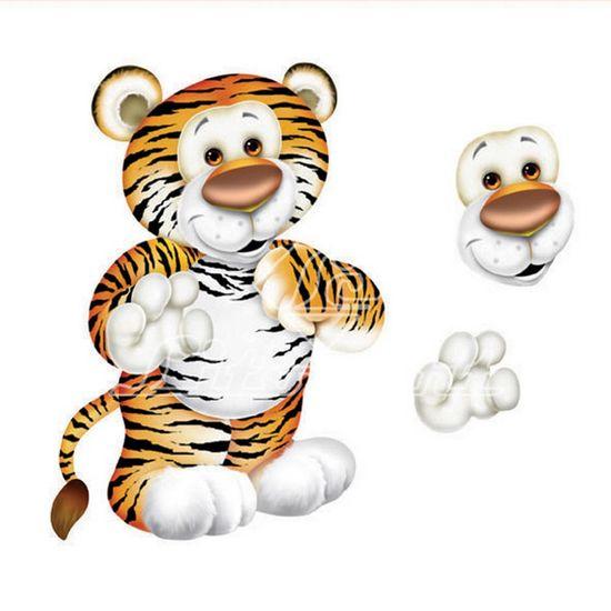 Aplique-Madeira-e-Papel-3D-Tigre-LDMPC-007---Litocart-