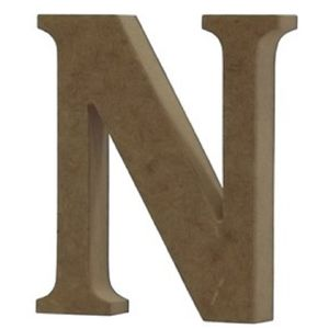 Enfeite-de-Mesa-Letra--N--18cm-x-18mm---Madeira-MDF