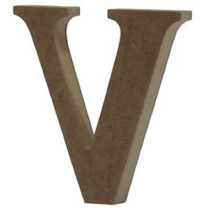 Enfeite-de-Mesa-Letra--V--18cm-x-18mm---Madeira-MDF