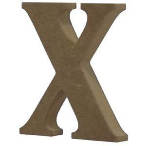 Enfeite-de-Mesa-Letra--X--18cm-x-18mm---Madeira-MDF