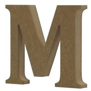 Enfeite-de-Mesa-Letra--M--24cm-x-18mm---Madeira-MDF