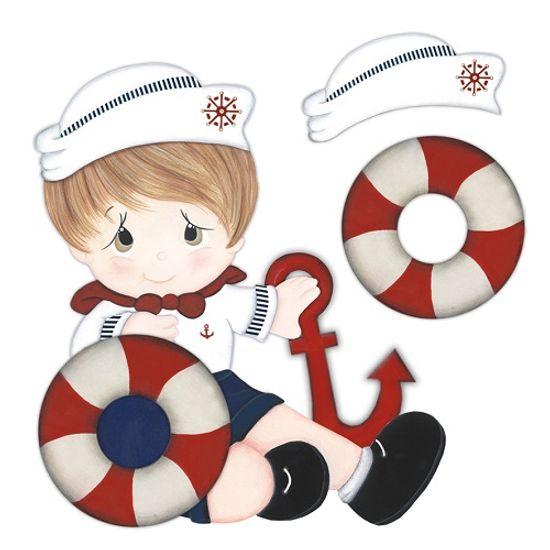 Aplique madeira e papel 3d marinheiro ldmpc 013 litocart - Papel decoupage infantil ...