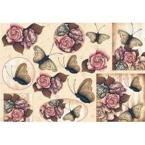 Papel-Decoupage-Grande-Flores-Borboletas---LD-769---Litocart
