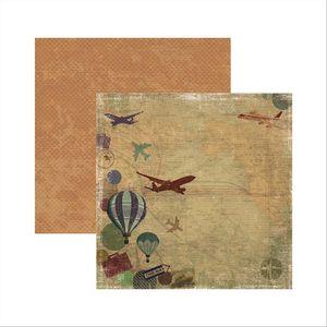Papel-Scrapbook-Viagem-Retro-Destino-SDF486---Toke-e-Crie