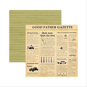 Papel-Scrapbook-Familia-Tradicional-Jornal-SDF492---Toke-e-Crie