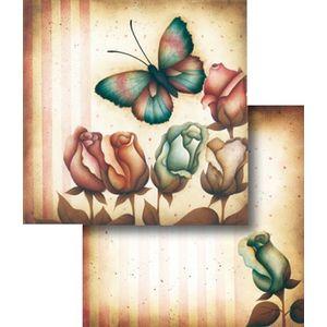 Papel-Scrapbook-Duplo-Flores-LSCD-264---Litocart