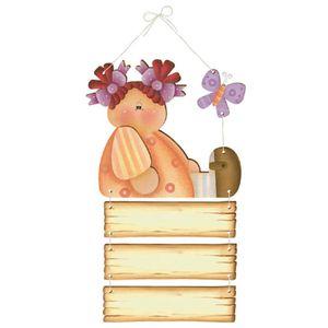 Placa-de-Porta-MDF-Decoupage-Menina-DM-064---Litoarte