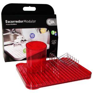 Escorredor-Modular-3-pecas-Vermelho-Transparente-99091-1111---Coza