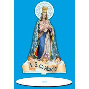 Enfeite-Arte-em-Madeira-MDF-e-Tecido-colado-com-Base-N.-S.-da-Abadia-AMTB-001---Litoarte