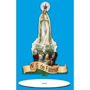 Enfeite-Arte-em-Madeira-MDF-e-Tecido-colado-com-Base-N.-S.-de-Fatima-AMTB-002---Litoarte