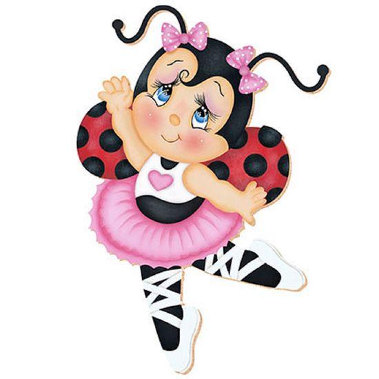 Decoupage aplique em papel e mdf joaninha bailarina apm20 - Papel decoupage infantil ...