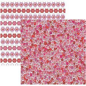 Papel-Scrapbook-DF-Amor-Puro-Mini-Selos-SDF502---Toke-e-Crie