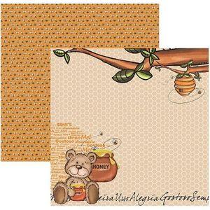Papel-Scrapbook-DF-Colecoes-Meu-Amigo-Urso-Colmeia-SDF526---Toke-e-Crie