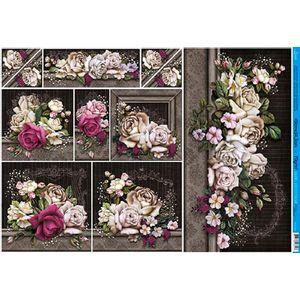Papel-Decoupage-Grande-Flores-PD-891---Litoarte